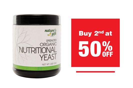 NUTRITIONAL YEAST 2BTLS (2ND AT 50% OFF)