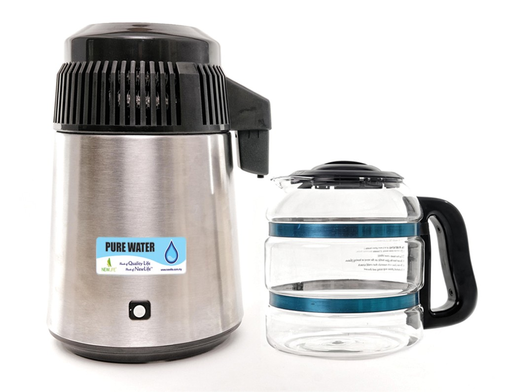 Pure Water Distiller (With Glass Bottle)